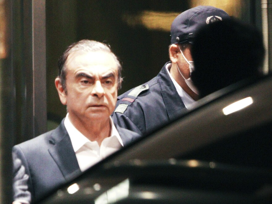Former Nissan Chairman Carlos Ghosn, pictured leaving the Tokyo Detention Center in April, is believed to have escaped with the help of several individuals. So far, Turkish authorities have arrested 12 people in connection with the auto executive's getaway.