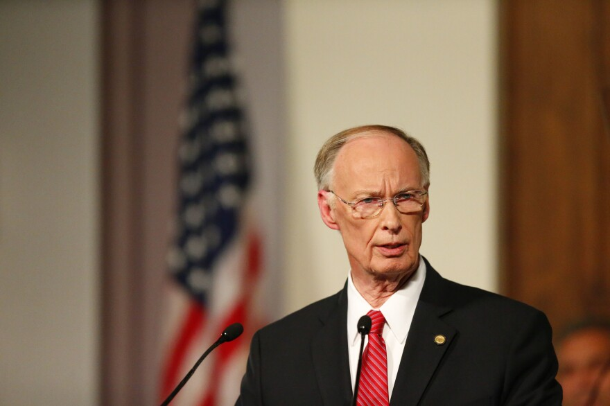 Alabama Gov. Robert Bentley speaks during the annual State of the State address in Montgomery, Ala., on Feb. 7.