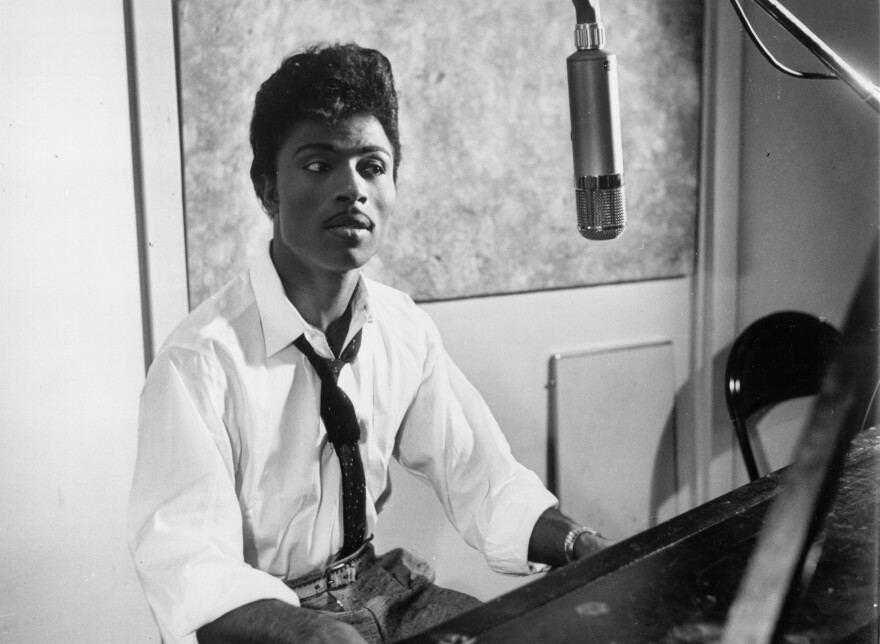 Little Richard in the studio, circa 1959.