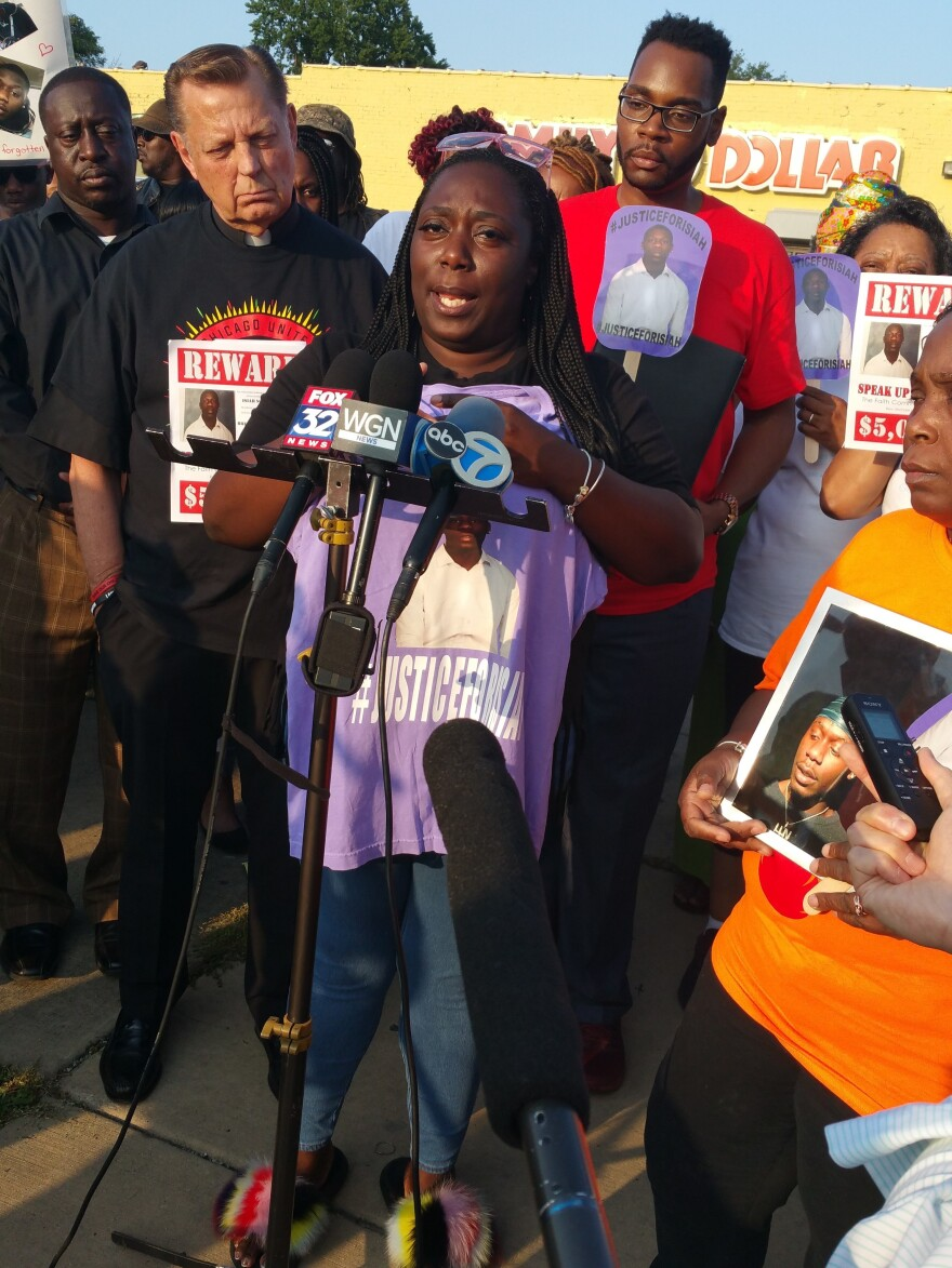 Kisha Stansberry's son Isiah Scott was fatally shot in March. Stansberry is offering a $5,000 reward for information leading to the shooter's arrest.