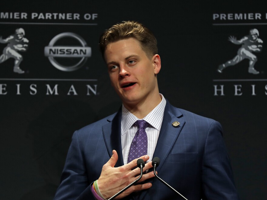 LSU quarterback Joe Burrow described the poverty of his Ohio hometown during his Heisman Trophy acceptance speech. Since then, the Athens County Food Pantry has received a flood of donations from around the U.S.