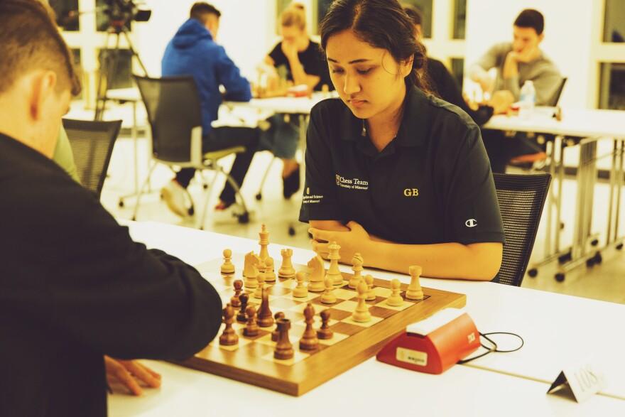 Mizzou fielded its new team comprised of woman grandmaster Gulrukbegim Tokhirjonova, three grandmasters and a newly minted national master in Oct. 2019.