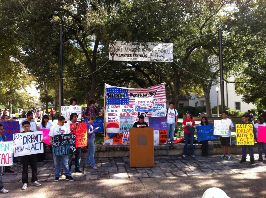 DREAM Act rally at University of Texas at Austin