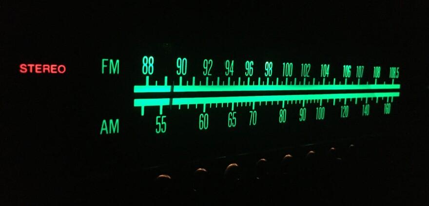 photo of radio tuner