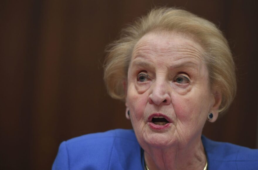 "Former US Secretary of State Madeleine Albright speaks during a hearing on ""National Security Implications of the Rise of Authoritarianism Around the World"" at the Cannon House Office Building on Capitol Hill on February 26, 2019 in Washington,DC. (Mandel Ngan/AFP)"