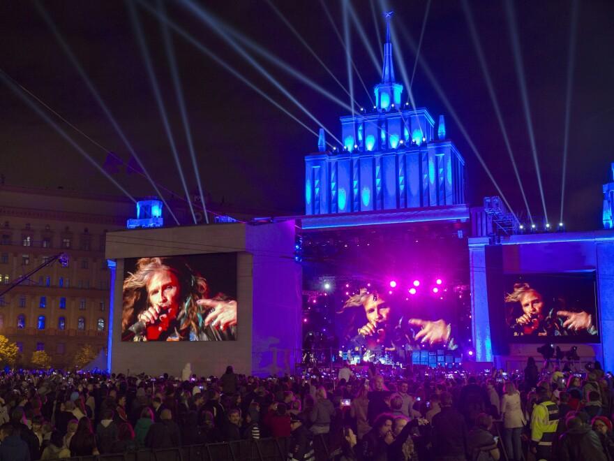 Aerosmith's Steven Tyler performed during Moscow's 868th birthday celebration last week.