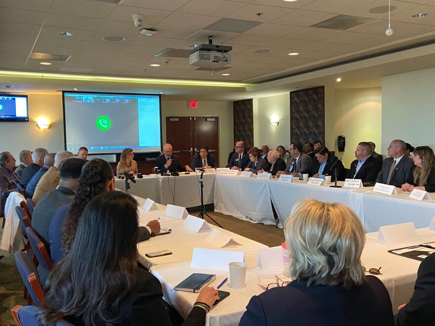Health officials from South Florida Hospitals as well as advocates for senior citizens met at Nova Southeastern University Monday to share their Coronavirus concerns and needs with U.S. Reps. Debbie Wasserman Schultz and Ted Deutch.