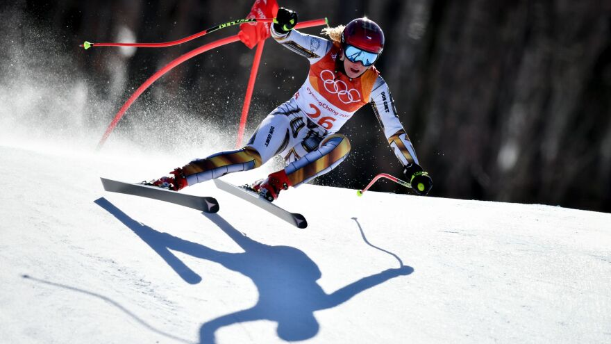The Czech Republic's Ester Ledecka won the women's Super-G race at the Jeongseon Alpine Center by just 0.01, pulling off an upset at the Pyeongchang 2018 Winter Olympics in South Korea.