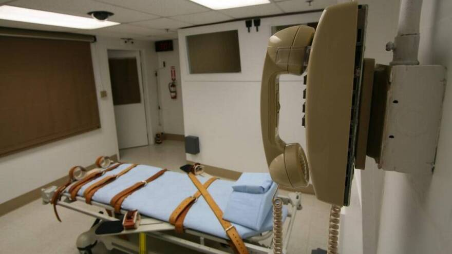 The death chamber at the Florida State Prison in Starke.