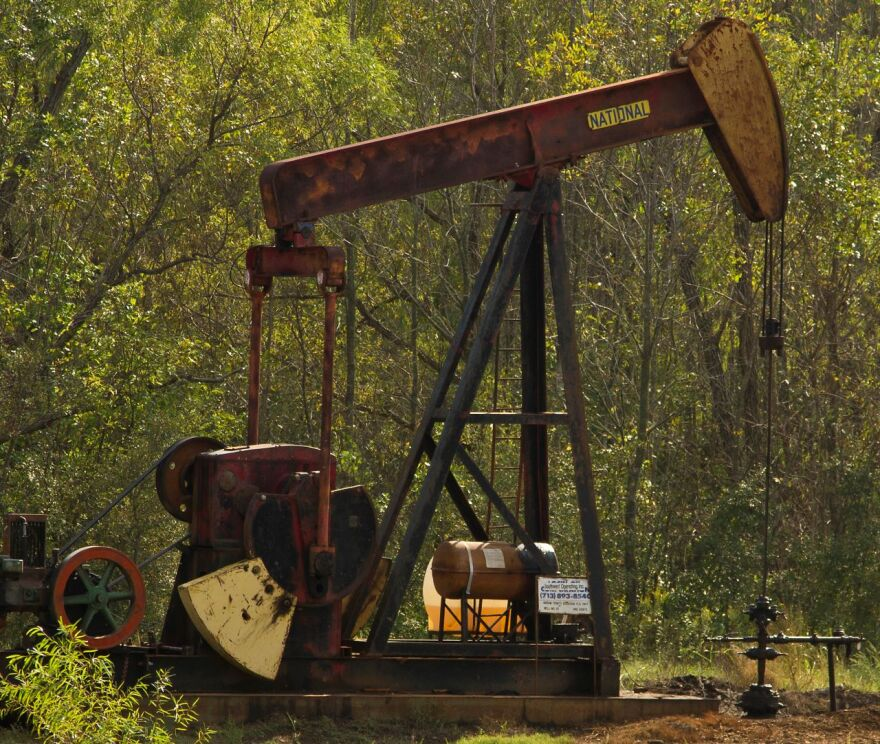 An abadoned oil well in texas