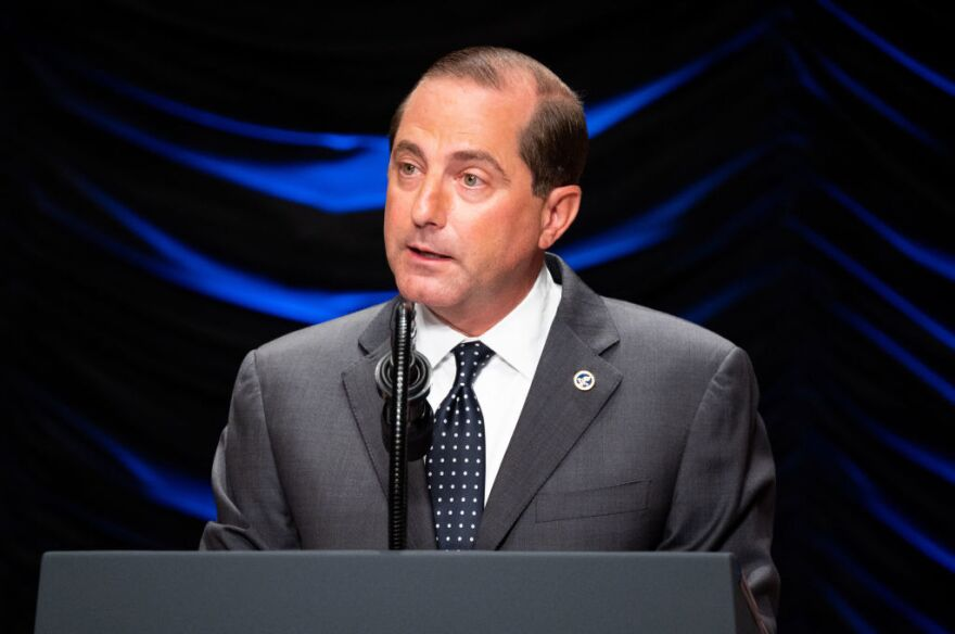 Secretary of Health and Human Services Alex Azar announced his agency is dropping a proposal intended to lower drug prices.
