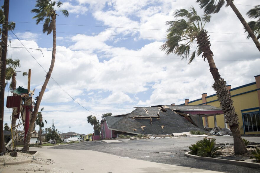 Harvey caused significant damage in Port Aransas when it came ashore as a Category 4 hurricane on Friday.