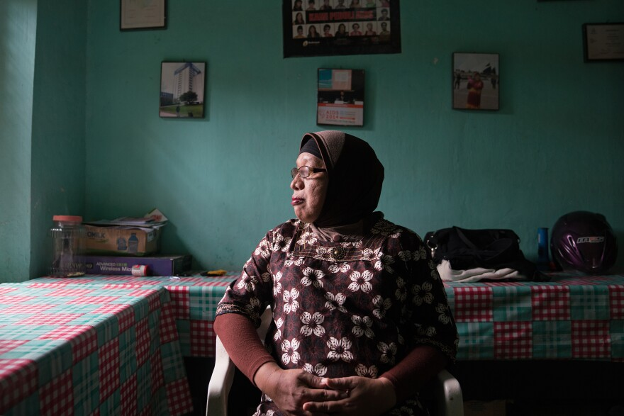 It's been ten years since Vinolia Wakijo started Kebaya as a group home for people with HIV, some of whom are waria. She's the matriarch of waria in the city of Yogyakarta.