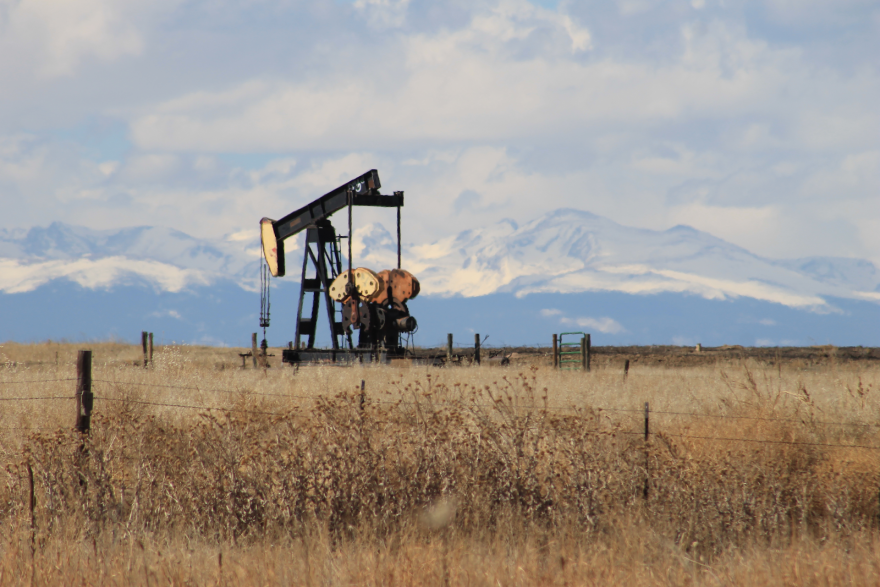 A pumpjack in Colorado, which ranks No. 6 in the country in proved natural gas reserves, and No. 7 in crude oil reserves.