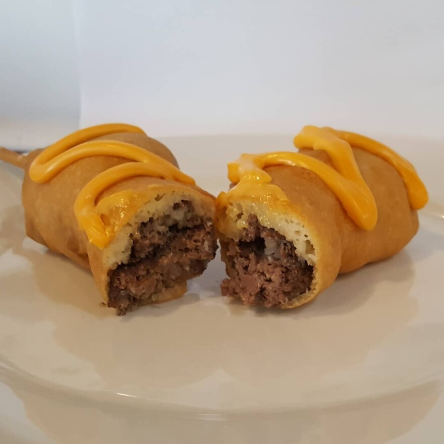 Cheeseburger On-A-Stick