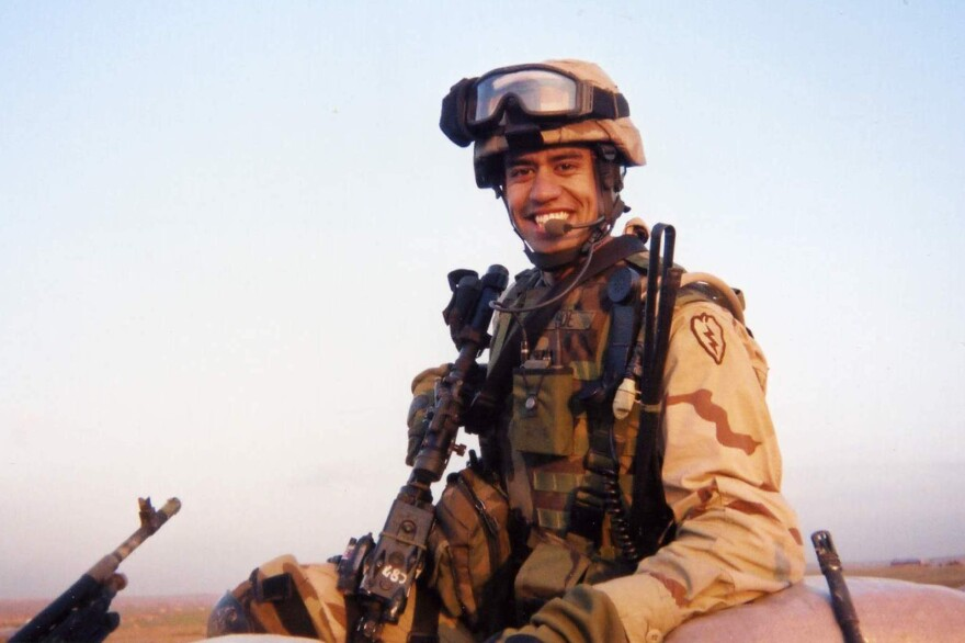 First Lt. Nainoa K Hoe in Iraq in 2004. He died in Mosul in 2005 serving during operation Iraqi Freedom.