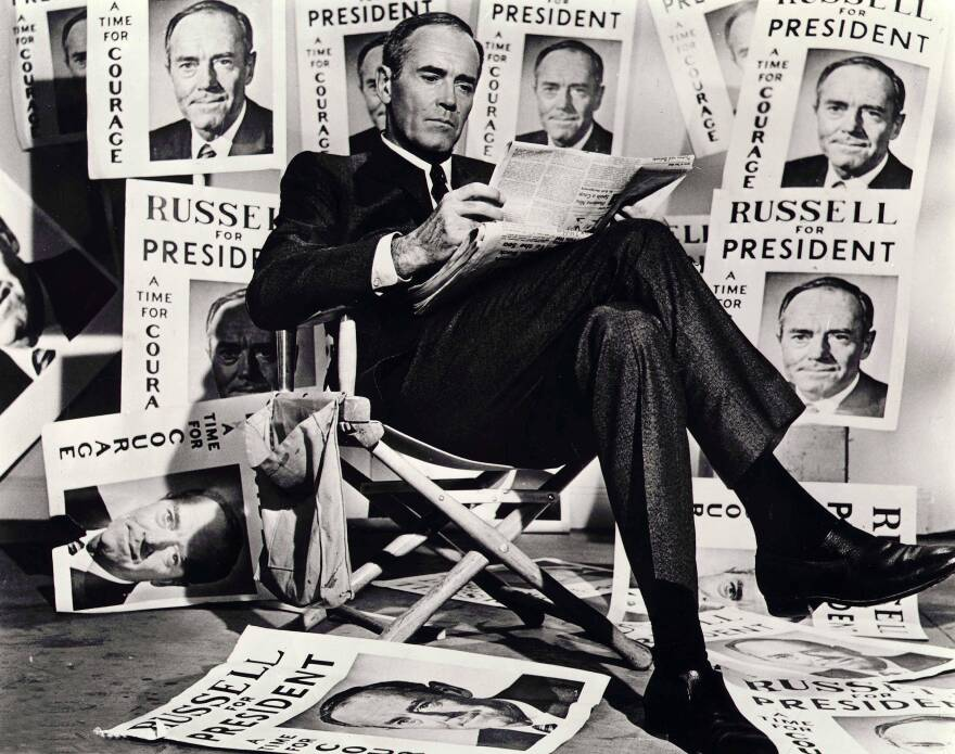 In 1964's <em>The Best Man,</em> presidential candidate and principled intellectual William Russell (Henry Fonda) competes with a TV-savvy opportunist at his (unspecified) party's convention.