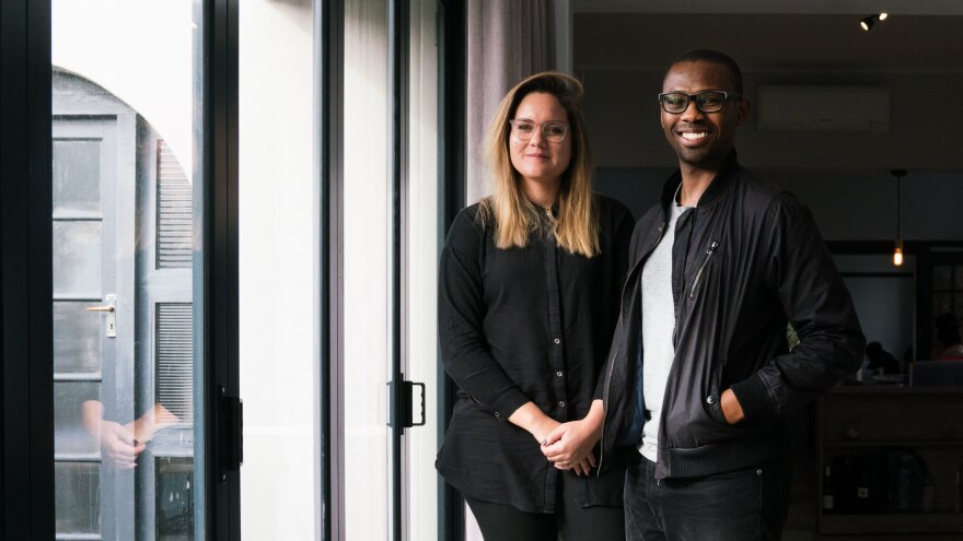 Susan van Rooyen and Moe Kekana of King James Group were behind the 2-Minute Shower Song project.