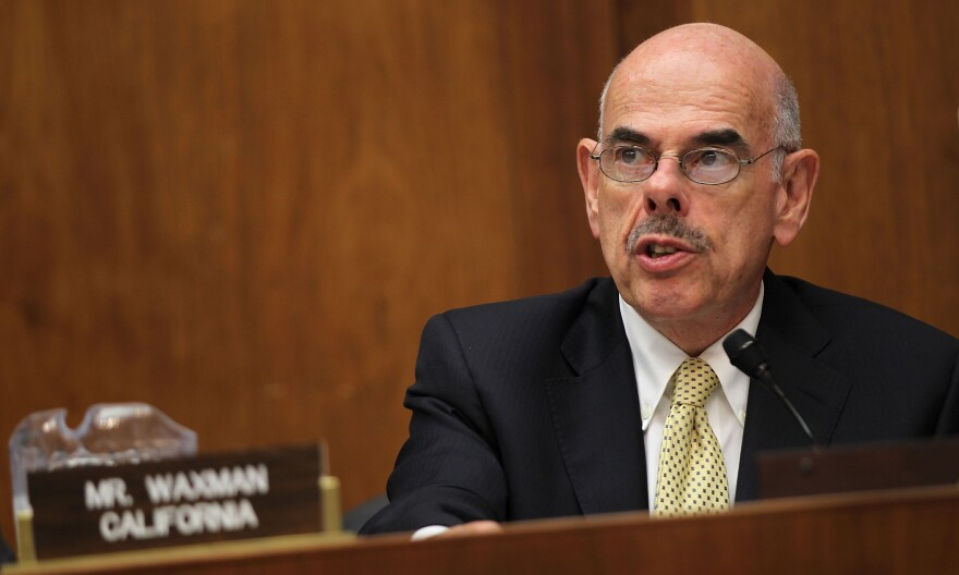 """Rep. Henry Waxman of California speaks during a 2011 hearing in Washington, D.C. The 20-term Democrat was among the """"Watergate babies"""" elected in 1974."""