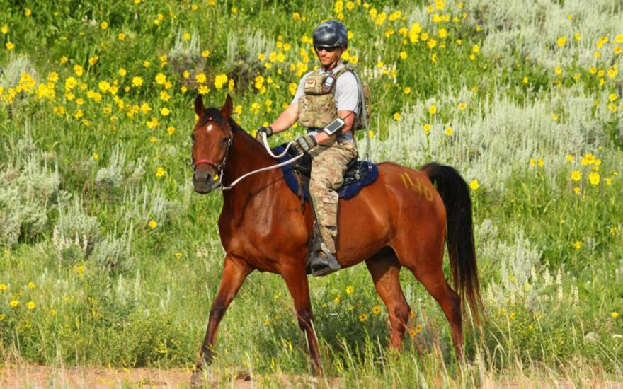 Tim Finley, a captain in the U.S. Air Force, riding his horse, Honor. (Courtesy of Tim Finley)
