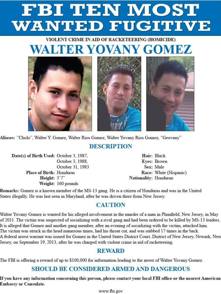 The FBI added Walter Yovany-Gomez to its Ten Most Wanted Fugitives after years of fruitless pursuit. Then it got a tip, which led investigators first to Facebook.