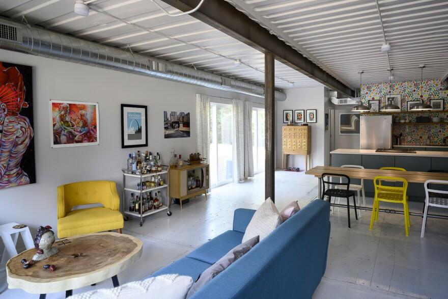 While the shipping containers are individually rather long and narrow, the home itself has a very open-floor-plan feel.