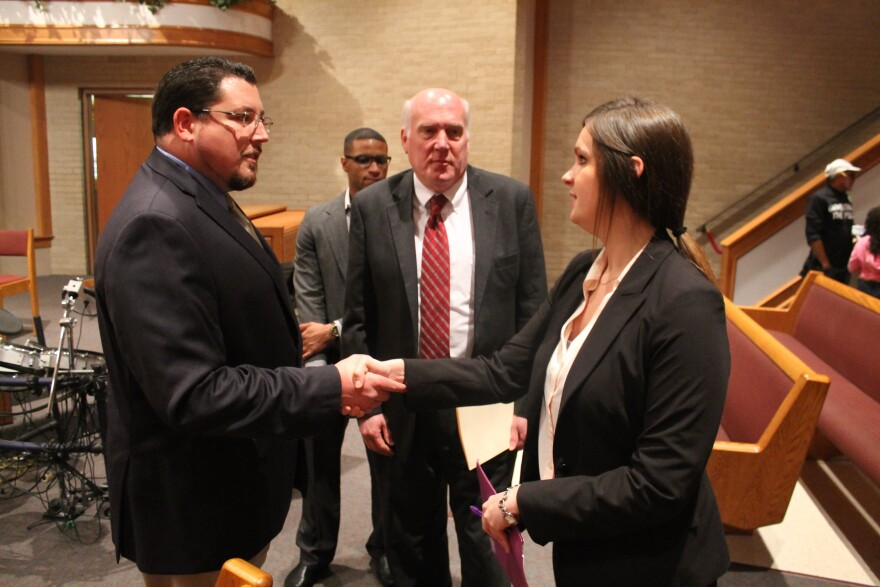 After contending that the governor gave his city little notice he was creating a panel named after his city, Ferguson Mayor James Knowles III applied to the commission.