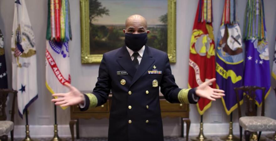 Surgeon General Jerome Adams recommends all Americans wear a cloth face mask to slow the spread of COVID19.