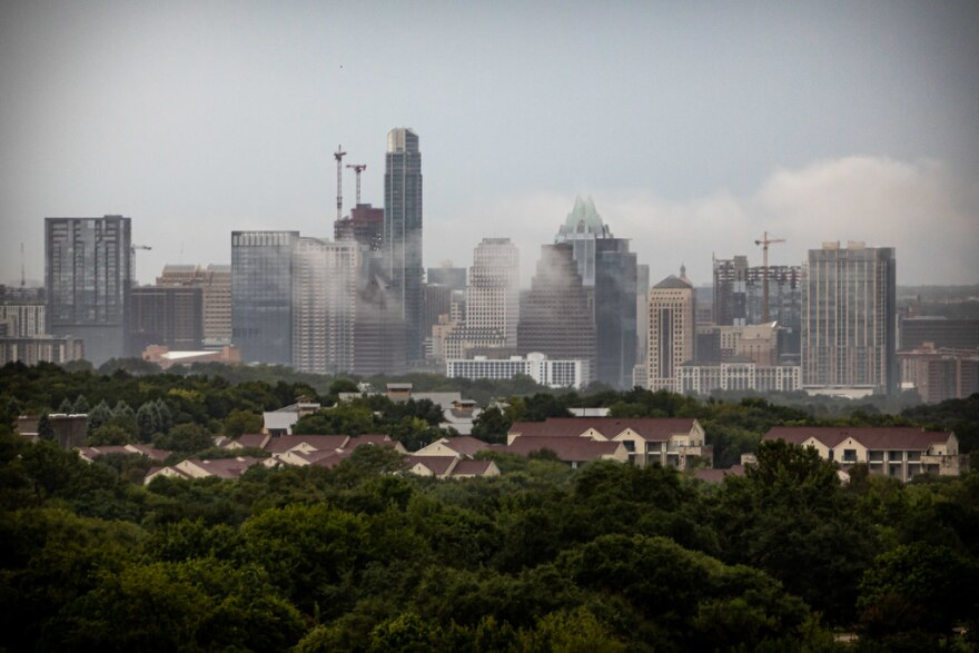 The Austin skyline on a September afternoon.