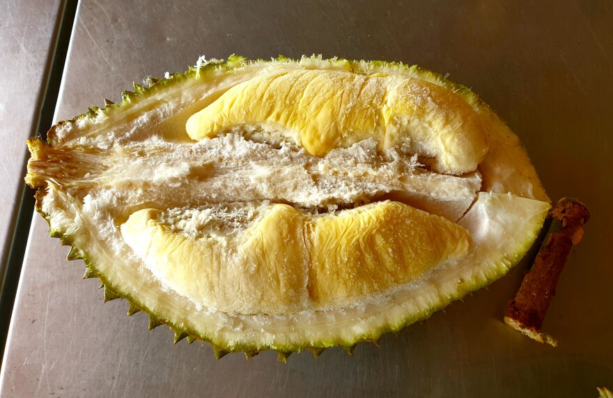 The inside of a Malaysian Musang King