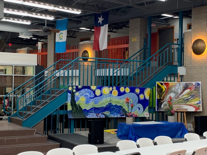 Casa Sunzal's building has two floors, with dozens of dorm rooms that can house up to 223 migrant teens.