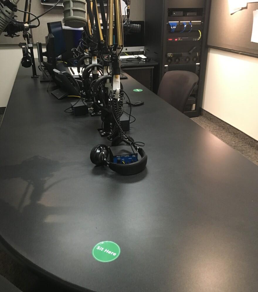 a photo of the Black Squirrel Radio studio