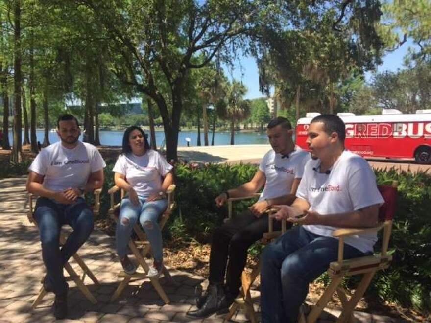 Survivors of the Pulse nightclub shooting urge the public for blood donations.