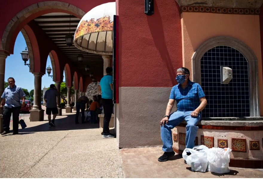 Customers visited La Gran Plaza in Fort Worth on May 1, the first day shopping malls, restaurants, retail outlets and movie theaters were allowed to reopen.