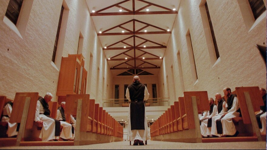 Trappist monks observe Vigils at 3:15 a.m. in Trappist, Ky., on July 3, 1998. An accountant at the abbey was indicted on Wednesday on 87 counts of theft.