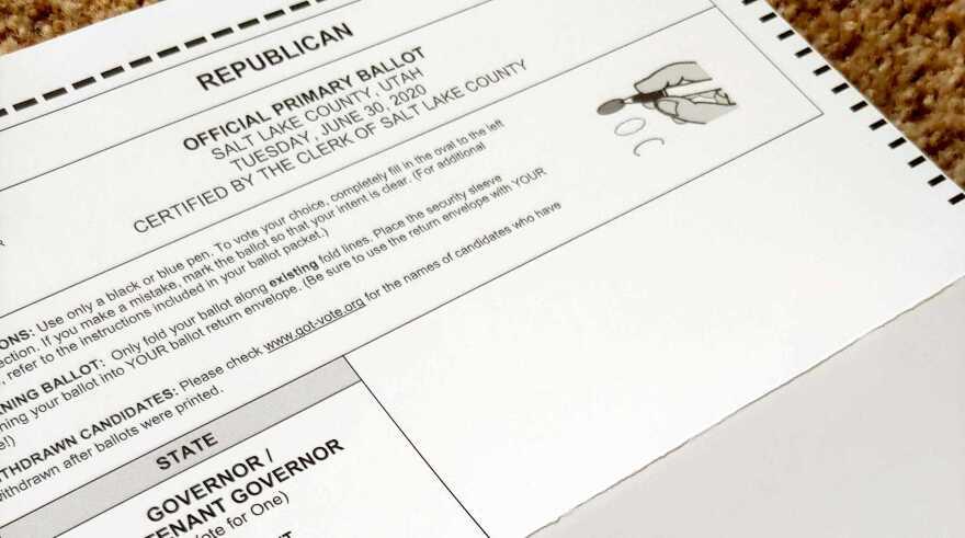 Photo of Republican ballot.