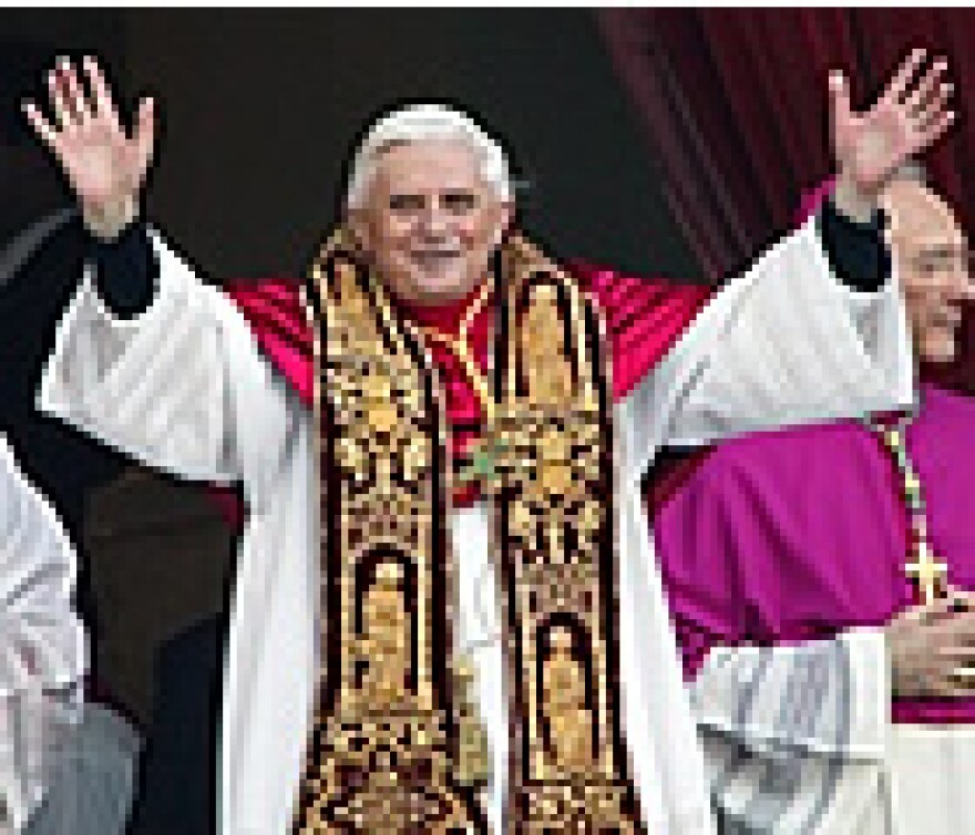 Pope Benedict visited New York in April 2008.