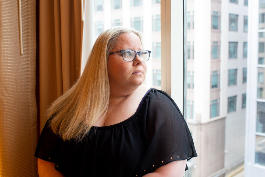 Nicole Rikard's husband, John Rikard, died by suicide in 2015. She talks with three other widows of police suicide every day.