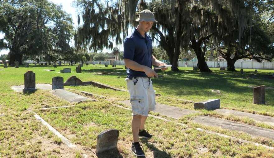 Paul Guzzo in Tampa's Memorial Cemetery