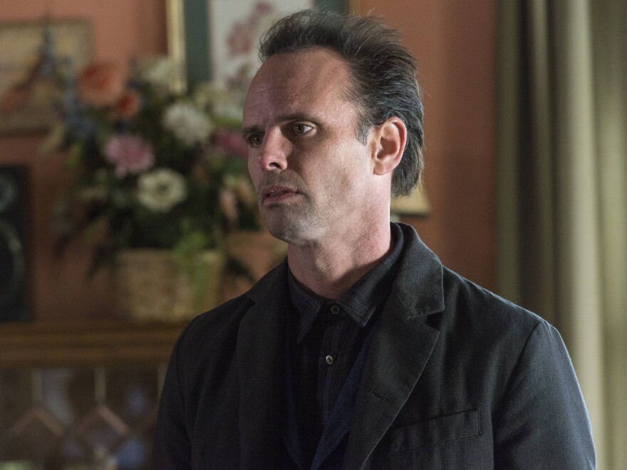 Walton Goggins plays Boyd Crowder on <em>Justified</em>. His character almost died in the pilot, but the writers liked his chemistry with actor Tim Olyphant, so they decided to keep him alive.