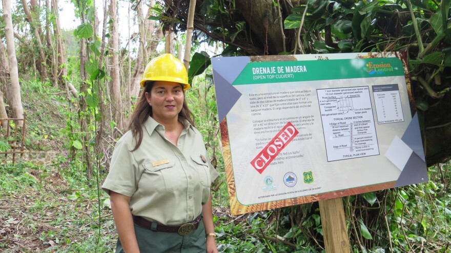 Ecologist Grizelle González says because of concerns about the safety of visitors, El Yunque remains closed until further notice.