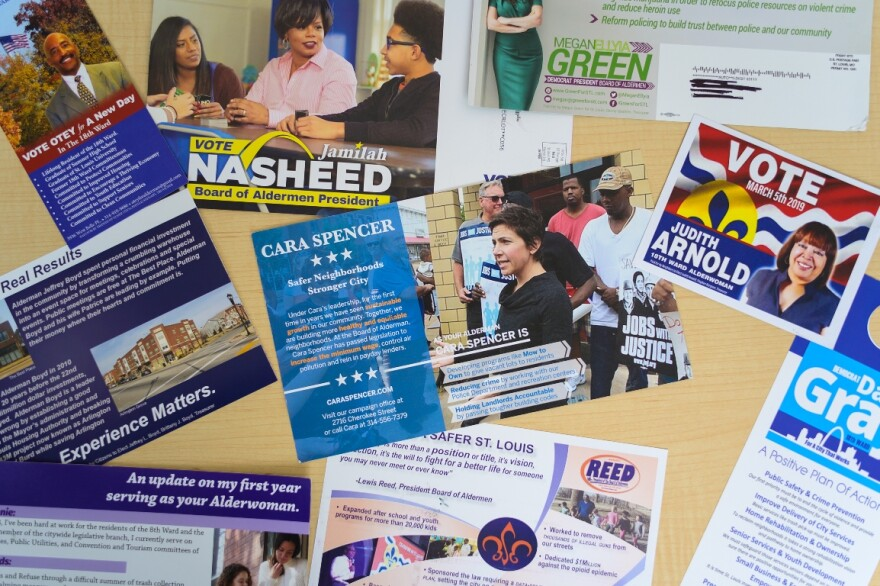 Mailers from across the city for the 2019 Board of Aldermen races