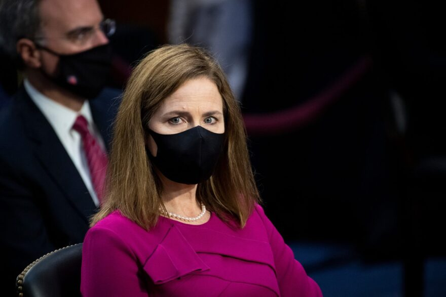 Supreme Court nominee Amy Coney Barrett attends her confirmation hearings in front of the Senate Judiciary Committee.