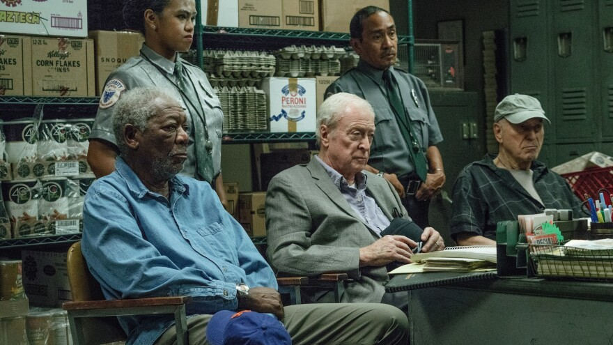 I'm Going To Call Your Parents: Willie (Morgan Freeman), Joe (Michael Caine) and Albert (Alan Arkin) get caught red-handed in <em>Going in Style</em>.