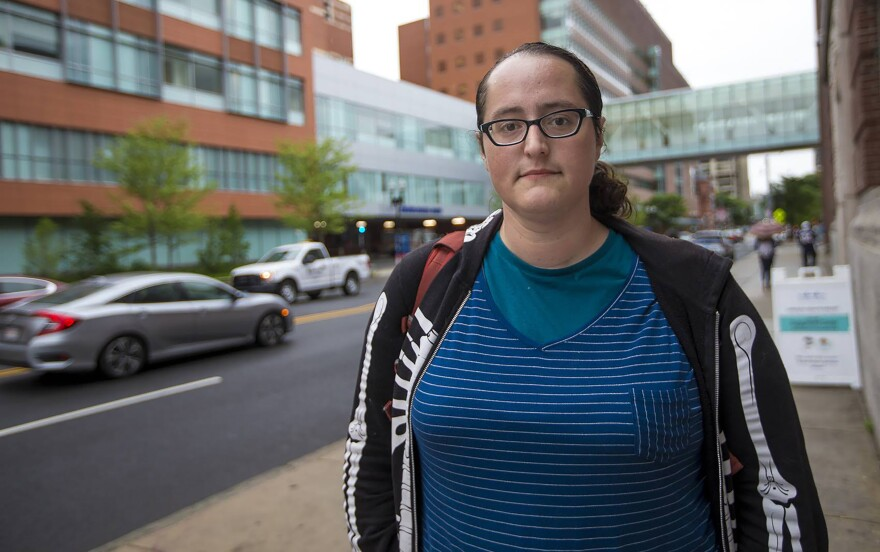 Aubri, a Boston resident who has used heroin, overdosed last year and says she was not offered any treatment.