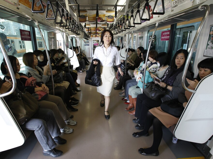 The groping of women and snapping of upskirt photos is a problem on mass transit systems around the world. East Japan Railway is among those systems that have created women-only cars to deal with the problem.