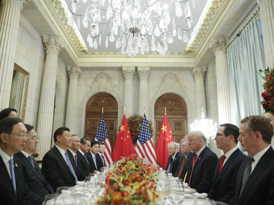 President Trump and Chinese President Xi Jinping agreed Saturday to a 90-day halt on new tariffs, hailed as a cease-fire in the countries' trade war.