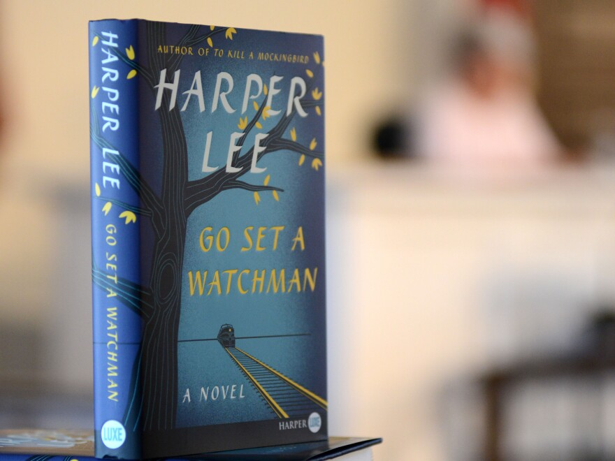 Nancy Rogers reads Go Set a Watchman in the old Monroe County Courthouse in Harper Lee's hometown, on the morning of the book's release.