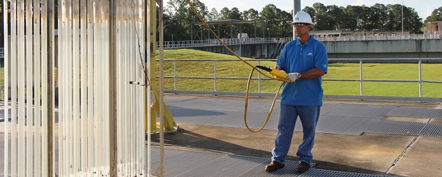 JEA employee at the utility's Mandarin Wastewater Plant.