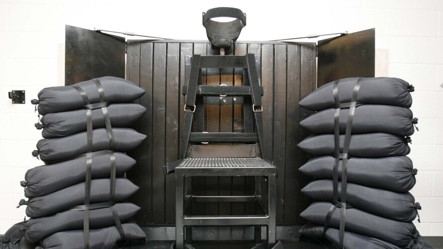 The firing squad execution chamber at the Utah State Prison, in Draper, Utah, as seen in 2010.